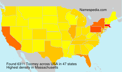 Surname Toomey in USA