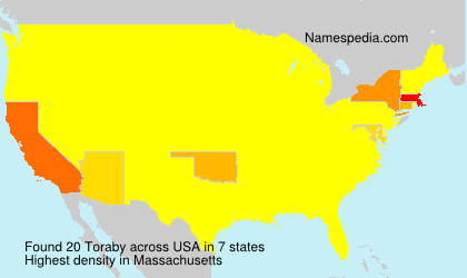 Surname Toraby in USA