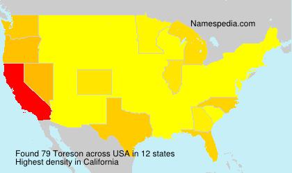 Surname Toreson in USA