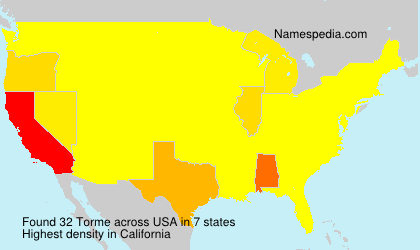 Surname Torme in USA