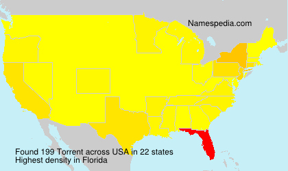 Surname Torrent in USA