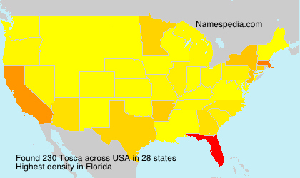 Surname Tosca in USA