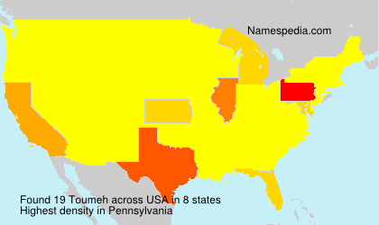 Surname Toumeh in USA