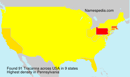 Surname Tracanna in USA