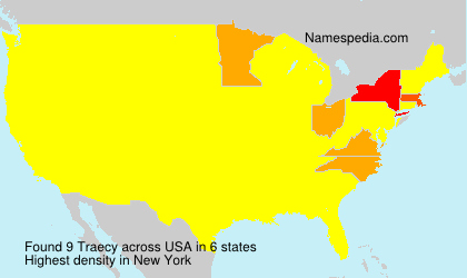 Surname Traecy in USA