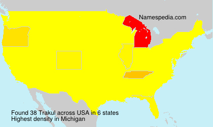 Surname Trakul in USA