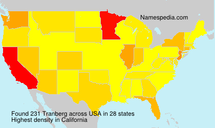 Surname Tranberg in USA