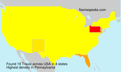Surname Trausi in USA