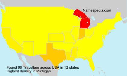 Surname Travelbee in USA