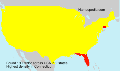 Surname Tredor in USA