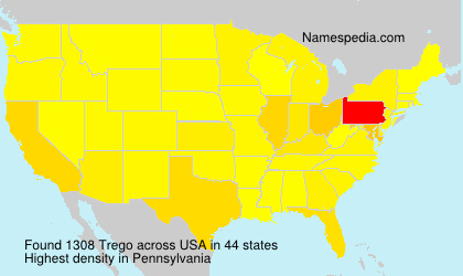 Surname Trego in USA