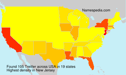 Surname Treitler in USA