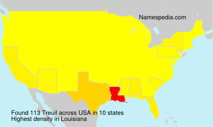 Surname Treuil in USA