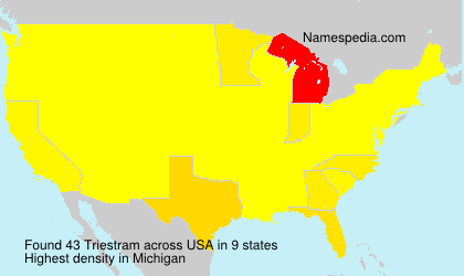 Surname Triestram in USA