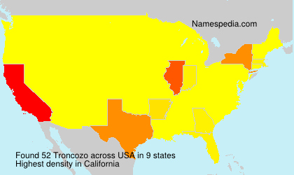 Surname Troncozo in USA