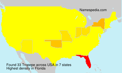 Surname Tropepe in USA