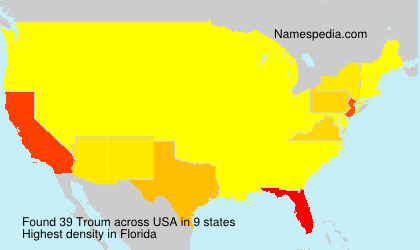 Surname Troum in USA