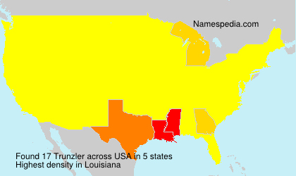 Surname Trunzler in USA