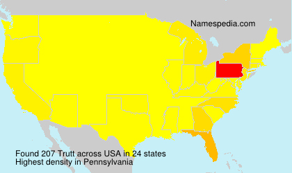 Surname Trutt in USA