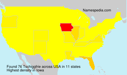 Surname Tschiggfrie in USA