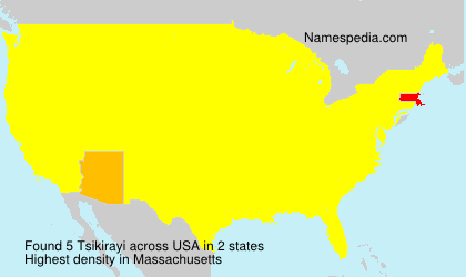 Surname Tsikirayi in USA