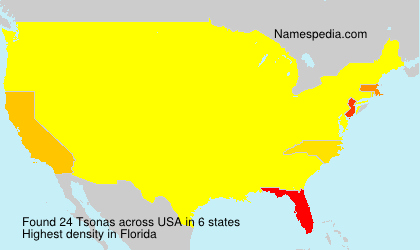 Surname Tsonas in USA