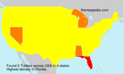 Surname Tubbes in USA