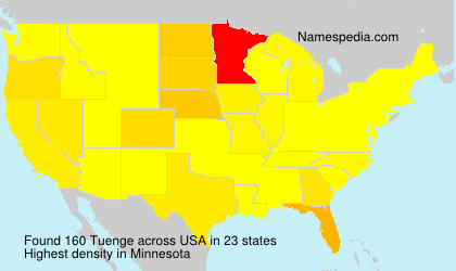 Surname Tuenge in USA