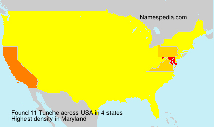 Surname Tunche in USA