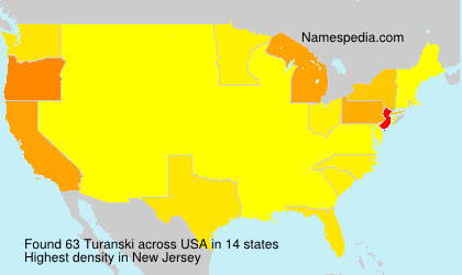 Surname Turanski in USA