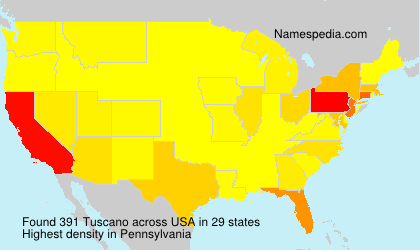 Surname Tuscano in USA