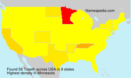 Surname Tuseth in USA