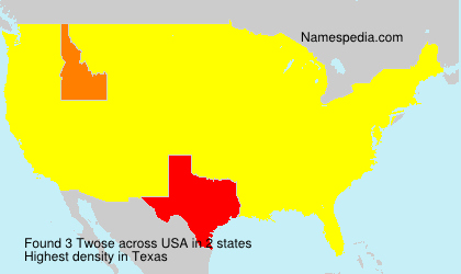 Surname Twose in USA