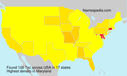 Surname Tyc in USA