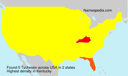 Surname Tychesen in USA