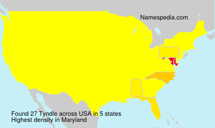 Surname Tyndle in USA