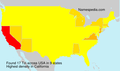 Surname Tzi in USA