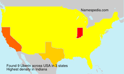 Surname Uberin in USA