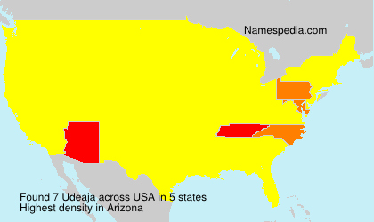 Surname Udeaja in USA