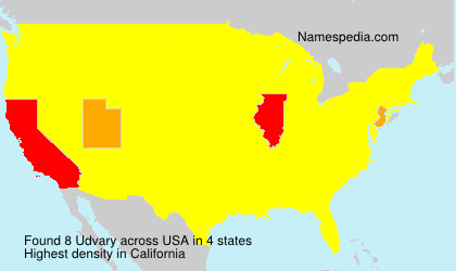 Surname Udvary in USA
