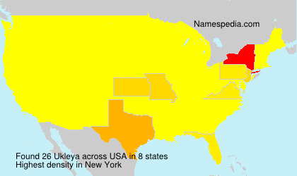 Surname Ukleya in USA