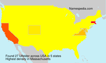 Surname Ulfelder in USA
