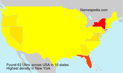 Surname Ulino in USA