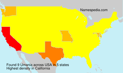 Surname Umania in USA
