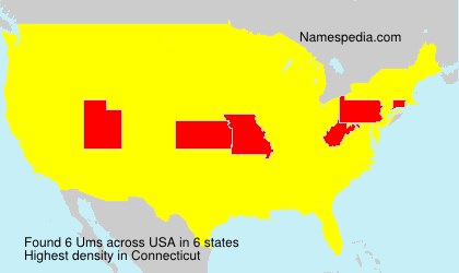 Surname Ums in USA