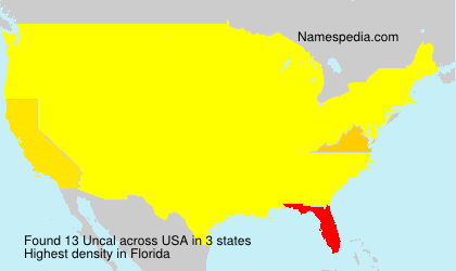 Surname Uncal in USA