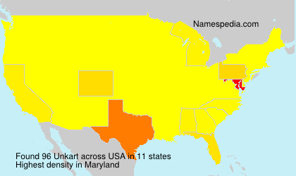 Surname Unkart in USA