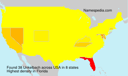 Surname Unkelbach in USA