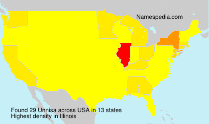 Surname Unnisa in USA