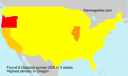 Surname Uppstad in USA